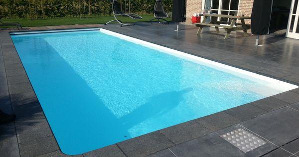 Zwembad met liner elbe white zwembaden jr pools pinterest - Witte pool liner ...