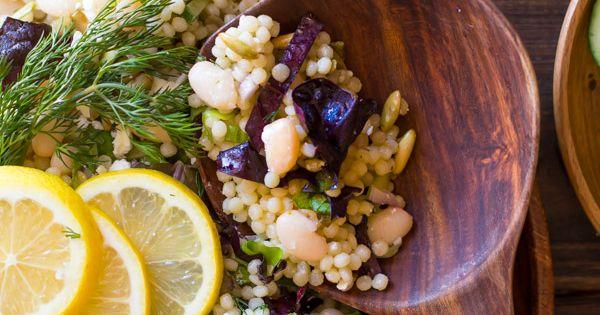 White Bean Couscous Salad With Lemon and Dill   Recipe   Couscous ...