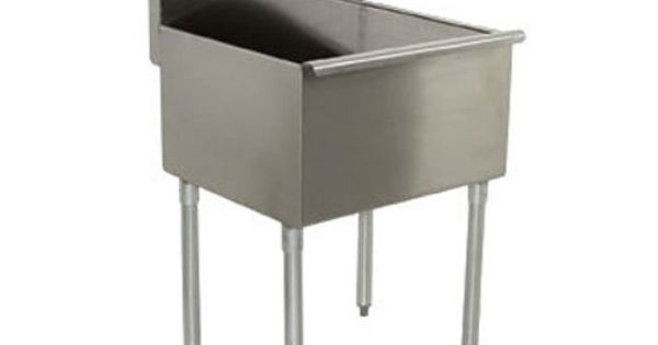 Regency 24 Quot 16 Gauge Stainless Steel One Compartment