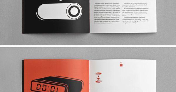 Editorial layouts / Bauerdruck print shop Brochure Design
