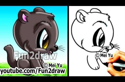 fun2draw 100 cats- cute winking cat cartoon