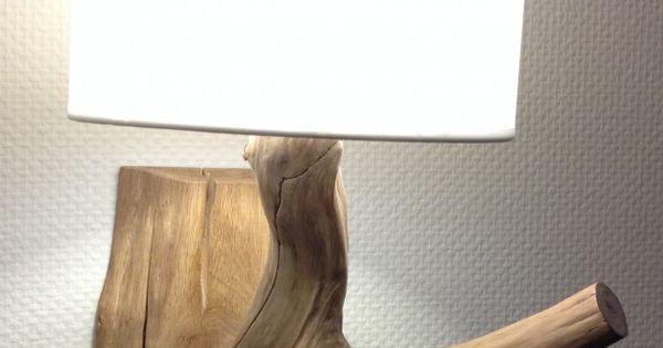 Wandlamp totaal 50 cm hoog van verweerd oud eiken inclusief goud kleurig snoer met - Berg wandlamp ...