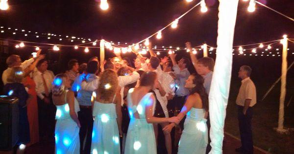 Cafe String Lighting over the Dance Floor! Robyn s Favorites Pinterest Weddings