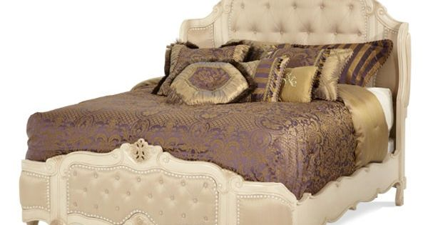 Lavelle Blanc King Wing Mansion Bed Aico Furniture Bed