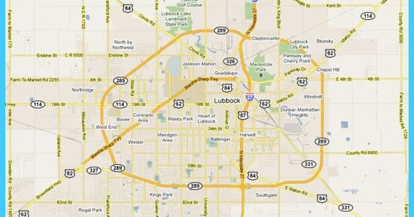 Cool Map Of Lubbock Texas Lubbock Texas Lubbock Texas