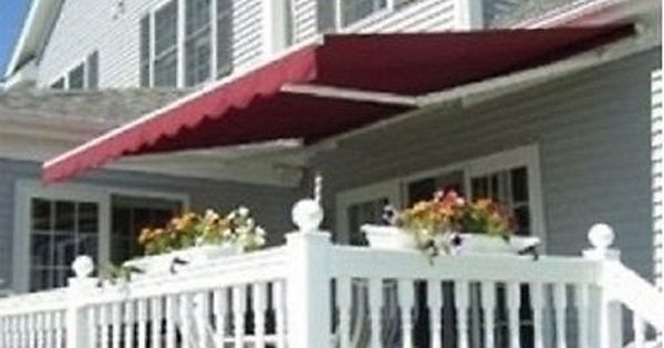 Retractable Patio Awning Manual 10 X 8 Sun Rain Protection Many Colors Deck New Canopy Outdoor Patio Awning Patio Canopy