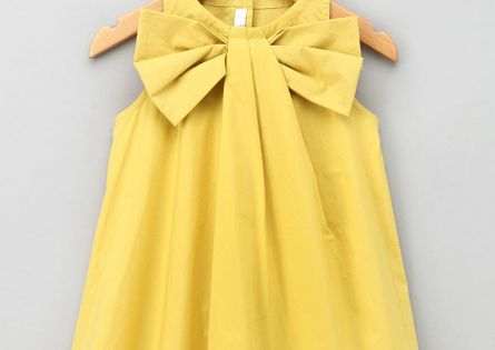 DIY bow dress for little girls. would be an adorable flower girl