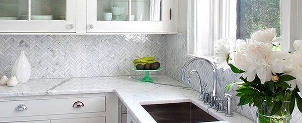 Best Herringbone Gray Backsplash Herringbone Carrara White 640 x 480