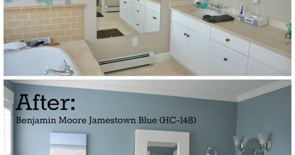 2perfection Decor Basement Coastal Bathroom Reveal: Master Bathroom Paint Color Reveal