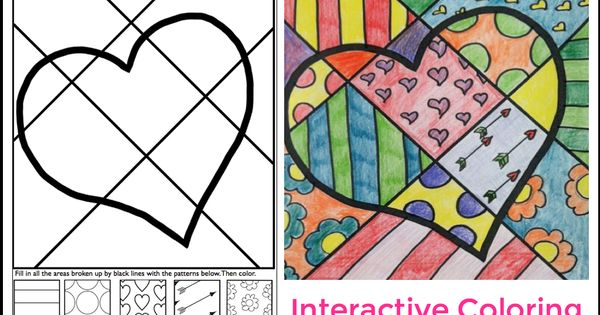 Interactive Heart Coloring Sheet For Valentine's Day