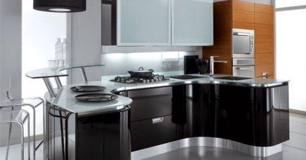 Desain dapur mewah kitchen set hitam putih desain griya for Kitchen set mewah