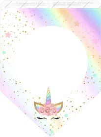 Unicornio Y Arco Iris Imprimibles Gratis Para Fiestas