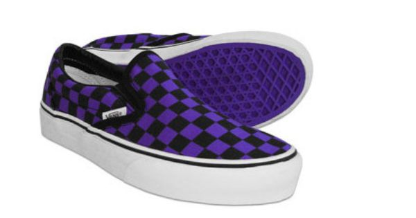 groomsmen checkered purple/black vans