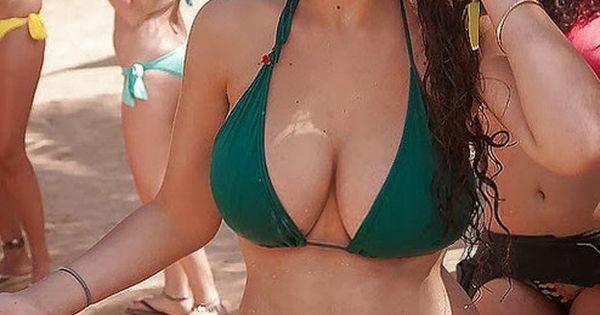 Girl with big tits having fun