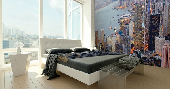 wandtapeten schlafzimmer wandgestaltung ideen schlafzimmerbank ... - Wandtapeten