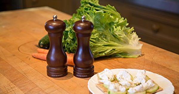 COLE /& MASON Capstan Wood Salt Grinder 6.5 inch Wooden Mill Includes Precision Mechanism