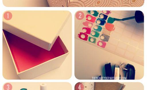 DIY Nail Polish Storage Idea: Nail Polish Box