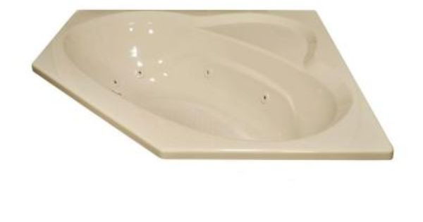 Lyons industries classic 5 ft whirlpool bathtub in almond for Lyons whirlpool tub