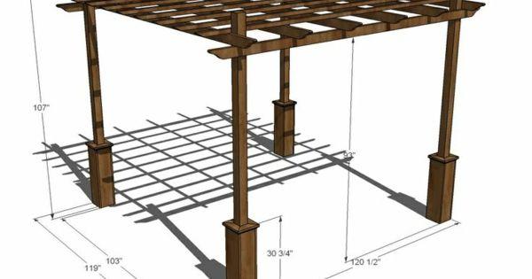 pergola selber bauen ideen bilder und anleitung garten pinterest skizzen pergola. Black Bedroom Furniture Sets. Home Design Ideas