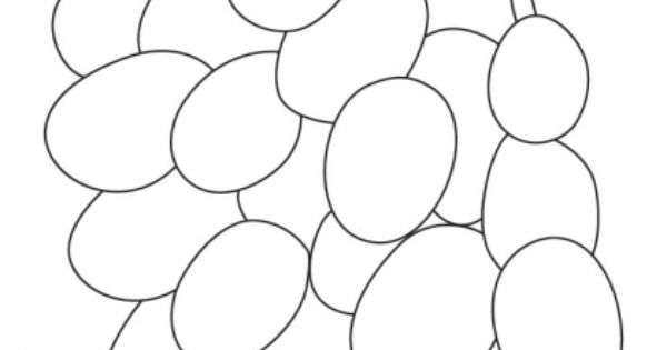 Download Free Bunch Grapes Coloring Pages For Kids