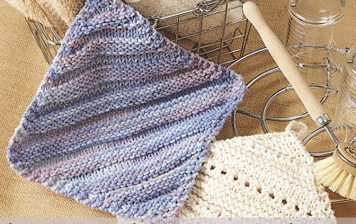 Knitting Dishcloth For Beginners : Learn how to knit with a dishcloth pattern