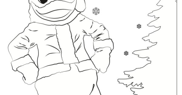 A santa duck coloring page perfect for the kids ducks for Oregon ducks coloring page