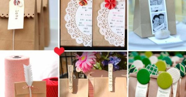DIY ideas to dress up brown paper bags- gift bags?
