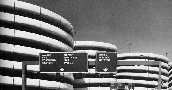 Sea Tac International Airport Parking Terminal Seattle Washington 1969 Architectuur En Design