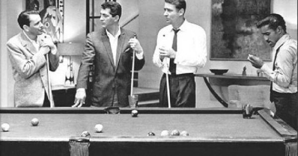 The Rat Pack Pool Table Poster 34x24 Free Shipping