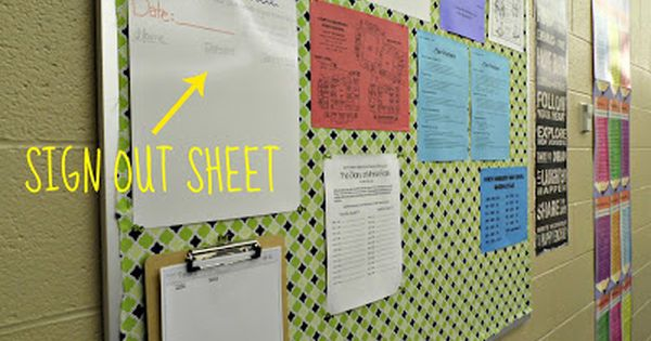 Eat. Write. Teach.: classroom organization