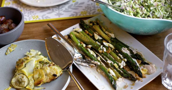asparagus with almonds and yogurt | Sides I'd like to try... someday ...