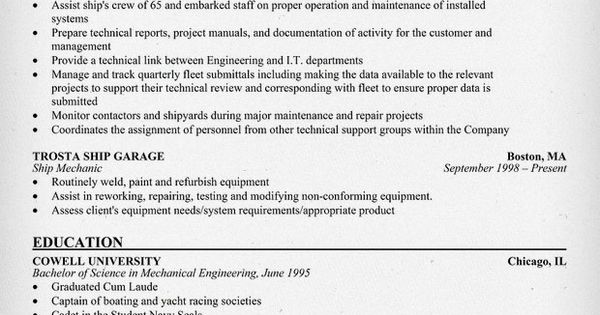 fleet engineer resume  resumecompanion com