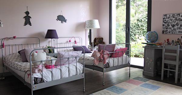 moquette chambre fille double lit en fer pour chambre de petite fille c0067 chambre gar ons. Black Bedroom Furniture Sets. Home Design Ideas
