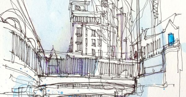 Line Art Rochdale : Sketches locks and watercolour on pinterest