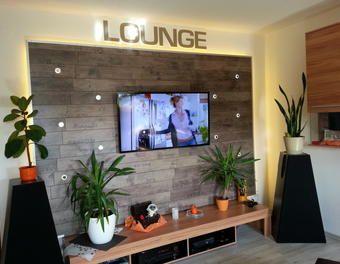 Wohnwand Tv Wand Selbst Gebaut Teil 1 Laminat Tv Wand Wohnwand Tv Wandhalterung Wohnen Steinwand Wohnzimmer Wohnzimmerwand