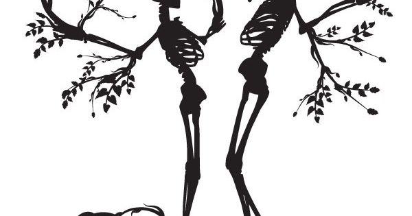 2 Tree Skeleton Tree Silhouette Vector Material Clip Art