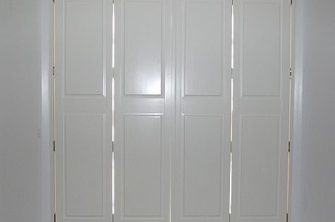 Wooden Solid Panel Shutters With 3 Year Guarantee By