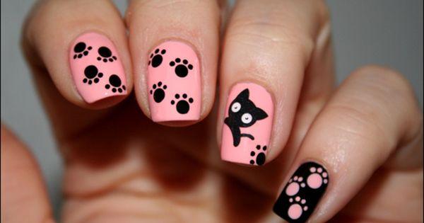 Nailpolis museum of nail art pattes de chat by mary monkett beauty nails pinterest cat - Nail art chat ...