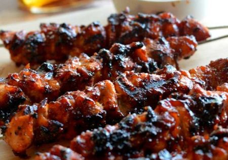 Photo: Bacon Bourbon BBQ Chicken Kebabs. Could be the best grilled recipe