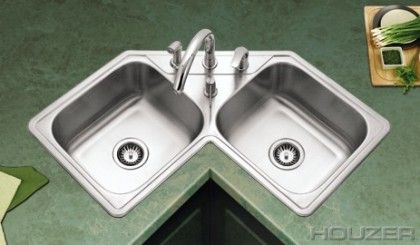 Corner Kitchen Sink Rectangular Corner Sinks Houzer Corner Sink Kitchen Corner Sink Kitchen Sink Design