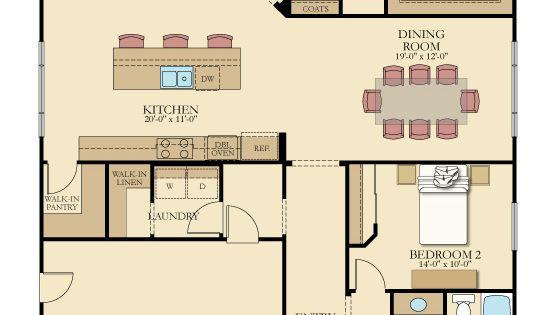 One-level Floor Plan From @lennarinlandla Featuring 3
