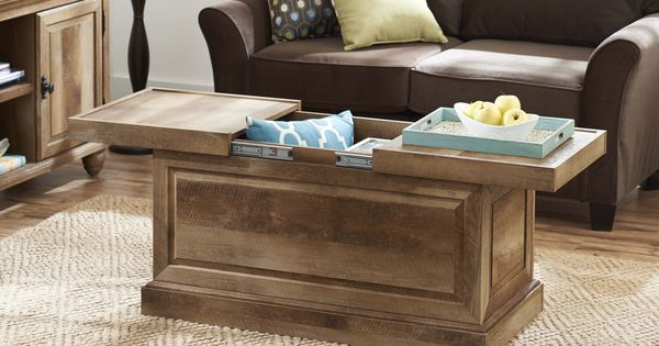 Better Homes And Gardens Crossmill Collection Coffee Table Weathered Extra Storage Space And