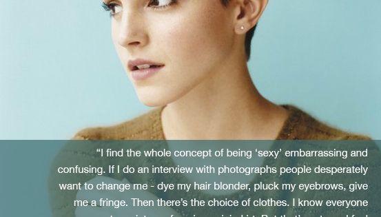 Emma Watson. Smart girl. What a classy role model.