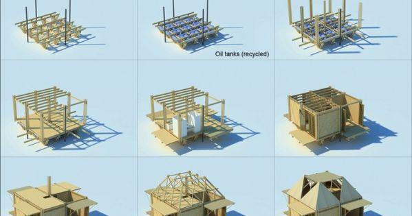 günstige behausungen bambus vietnam grundriss