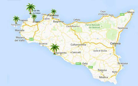 Karte Eine Perfekte Woche Sizilien Sizilien Urlaub