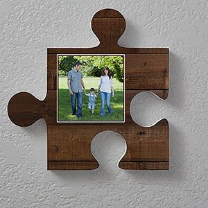 Personalized Photo Wall Puzzle Wood Textures Wall Puzzle Puzzle Picture Frame Rustic Wall Decor