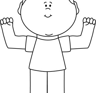 Black And White Boy Flexing Clip Art Black And White Boy Flexing Image White Boys Black And White Cardboard Crafts