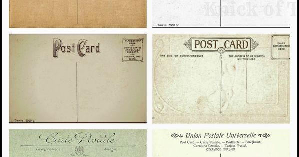 Antique Postcards The Back Sides Knick Of Time Printable Postcards Postcard Free Vintage Printables