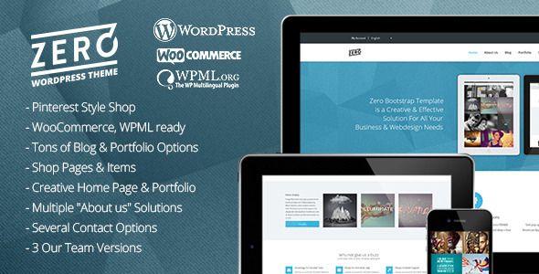 Wordpress Zero Responsive Parallax Multipurpose Portfolio Creative Blog Wordpress Vorlage Mit Shop Htt Wordpress Template Wordpress Theme Creative
