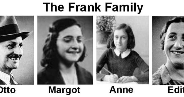 The Frank Family | The Holocaust | Pinterest | Anne frank ...